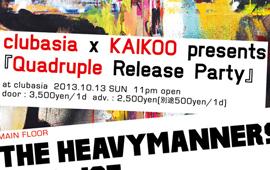 4アーティスト(Quadruple)同時リリースパーティー開催!!!!!
